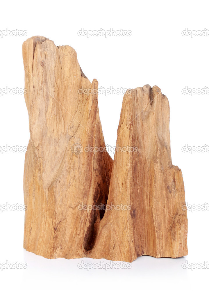 Abstract wooden carving isolated on white background  Stock Photo #10637648