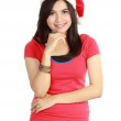 Woman in santa hat — Stock Photo #10670853