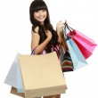 Picture of lovely woman with shopping bags — Stock Photo