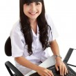Stock Photo: Female doctor working with her laptop