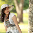 Stock Photo: Young beautiful asian woman smiling