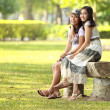 Stock Photo: Two girl best friend relaxing