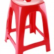 Red plastic chair — Stock Photo #10671647