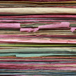 Stack of  file folder close up for background — Stockfoto