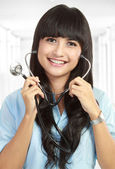 Smiling medical doctor with stethoscope. — Stock Photo