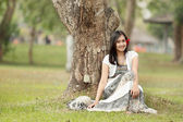 A portrait of a beautiful young asian woman — Stock Photo
