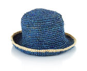 Blue straw hat — Stock Photo