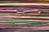 Stack of file folder close up for background — Stock Photo