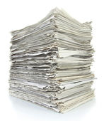 Stack of files full of documents signifying concepts such as wor — Stock Photo