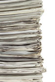 Stack of used papers for recycling — Stock Photo