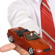Stock Photo: Car loan offer