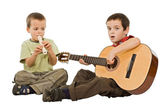 Children playing with instruments — Stock Photo