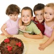 Children with cake — Stock Photo