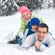 Royalty-Free Stock Photo: Family in snow