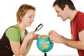 看看世界各地的情侣 — 图库照片