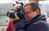 Photographer working — Stock Photo
