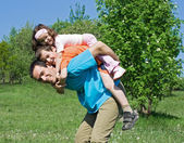 Father with his children — Stock Photo