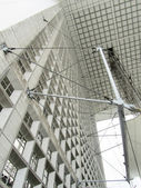 Tensioned structure in a modern building — Stock Photo
