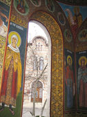 Romanian religious frescoes — Stock Photo