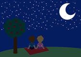 Starry night — Stock Vector