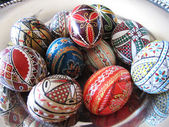 Romanian decorative eggs — Stock Photo