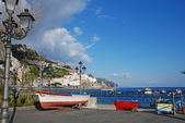 Amalfi view from the port — Stock Photo
