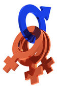 Gender symbols concept — Stock Photo
