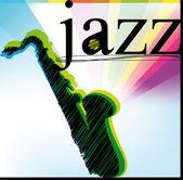 Jazz. Vector illustration — Stock Vector