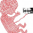 Fetus made with love. vector illustration — Vettoriali Stock