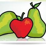 Forbidden fruit. Vector illustration — Stock Vector