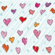 Abstract valentine background. Vector illustration - Stockvektor