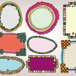 Set of vintage frames. vector illustration — Stock Vector #10474044