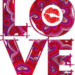 Stockvector : LOVE. vector illustration