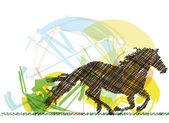 Abstract Stallion. Vector illustration — Stock Vector