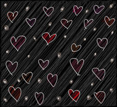 Abstract valentine background. Vector illustration — Vecteur