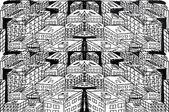Náčrt abstraktní města. vektorové ilustrace — Stock vektor