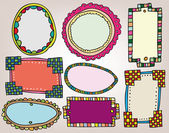 Set of vintage frames. vector illustration — Stock Vector