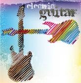 Soyut müzik gitar. vektör çizim — Stok Vektör