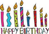 Happy birthday candles. vector illustration — Stock Vector