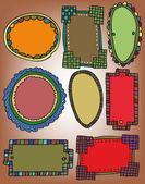 Set of vintage frames. vector illustration — Stock Vector
