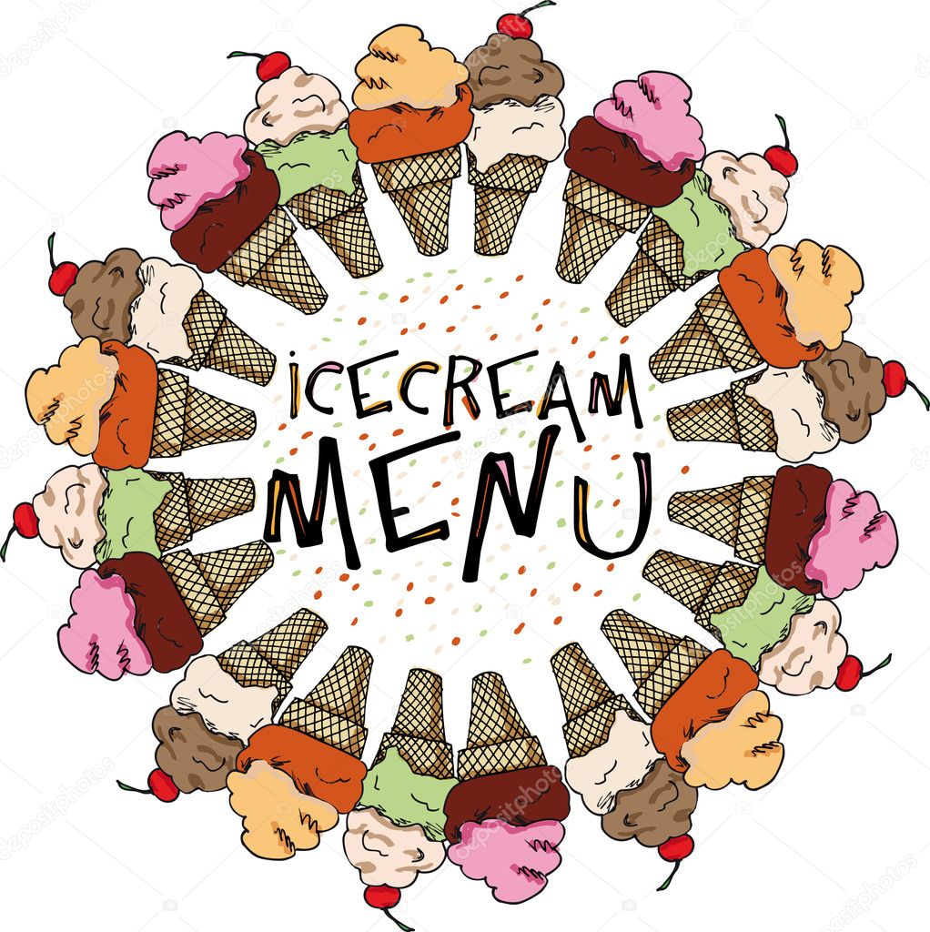 Ice Cream Sketch, Vector Illustration — Stock Vector #10474055