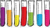 Sketch of test tube. vector illustration — Stock Vector