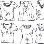 Sketch of Women tee. vector illustration — Stock Vector