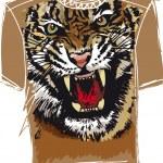 Tee sketch of tiger. vector illustration — Stock Vector #10490323
