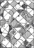 Saint-Valentin abstrait. illustration vectorielle — Vecteur
