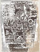 Grunge inca icon. Vector illustration — Stock Vector