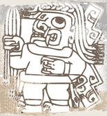 Icona di inca grunge. illustrazione vettoriale — Vettoriale Stock
