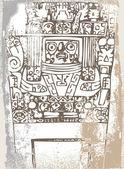 ícone do inca de grunge. ilustração vetorial — Vetor de Stock