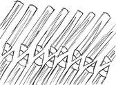 Skiss pennor mönster. vektor illustration — Stockvektor