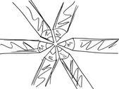 Sketch of pencils pattern. Vector illustration — Stock Vector